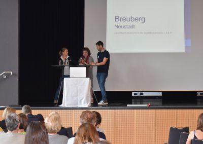 GWA-Leuchtturmstandort Breuberg, v.l.n.r: Katrin Sen (LAG), Yvonne Niebsch (Jugendwerkstätten Odenwald e.V.) und Daniel Serra da Silva (Jugendwerkstätten Odenwald e.V.)