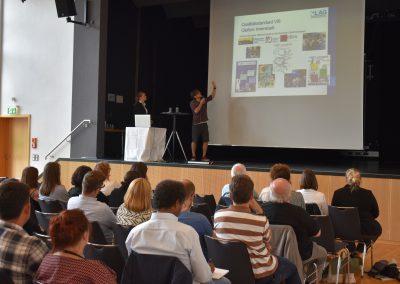 GWA-Leuchtturmstandort Gießen, v.l.n.r: Katrin Sen (LAG), Lukas Morawietz (Stabstelle Soziale Stadterneuerung, Stadt Gießen)