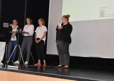 GWA-Servicestelle, v.l.n.r. Katrin Sen, Mirjam Roth, Lara Line Schüller, Fabienne Weihrauch