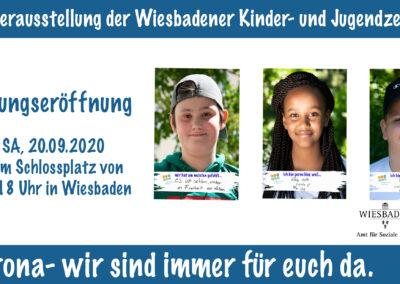 Wiesbaden: Fotoausstellung mit Statements von Kindern und Jugendlichen Lockdown