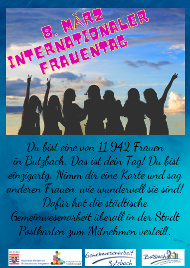 Butzbach: Postkartenaktion zum Weltfrauentag
