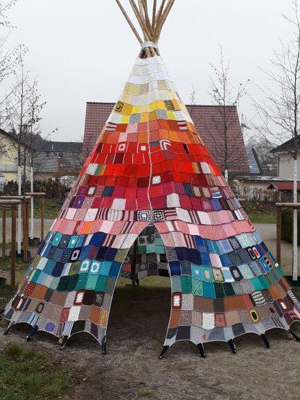 Wetzlar: Ein Tipi als gemeinschaftliches Kunstwerk
